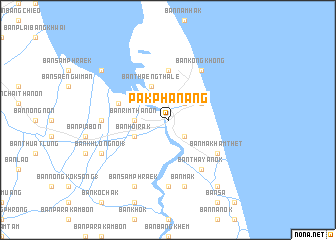 map of Pak Phanang