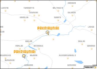 map of Pakriauniai