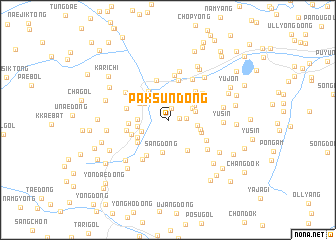 map of Paksun-dong
