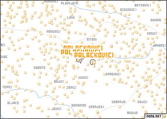 map of Palačkovići