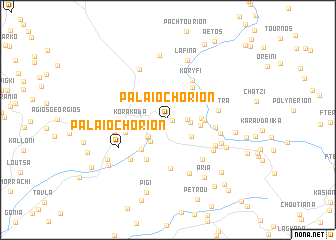 map of Palaiochórion