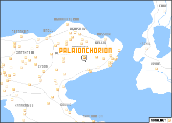 map of Palaión Choríon