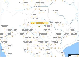 map of Palaióvrisi