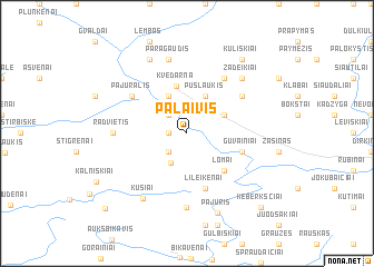 map of Palaivis