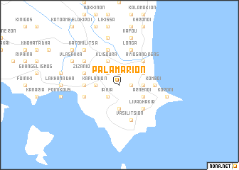 map of Palamárion