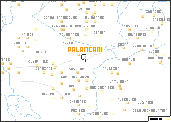 map of Palančani