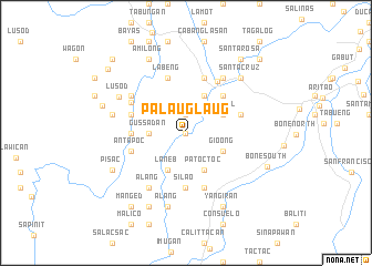 map of Palauglaug