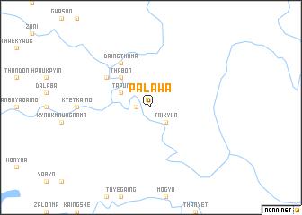 map of Palawa