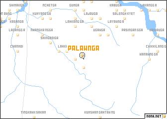 map of Palawn Ga