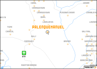 map of Palenque Manuel