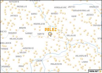 map of Palež
