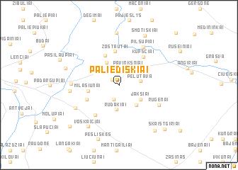 map of Paliediškiai