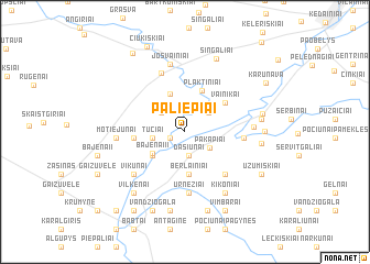 map of Paliepiai