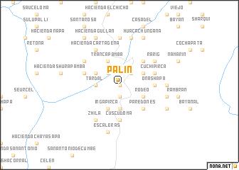 map of Palín
