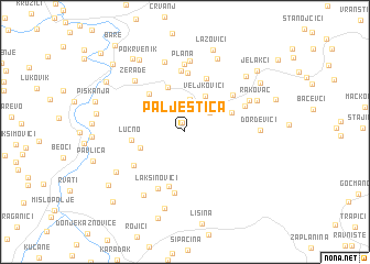 map of Palještica