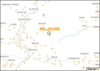 map of Paljevine