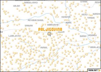 map of Paljigovina