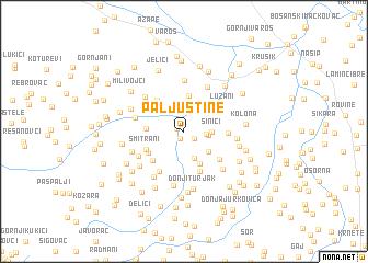 map of Paljuštine
