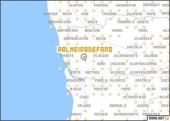 map of Palmeira de Faro