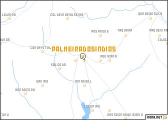 map of Palmeira dos Índios
