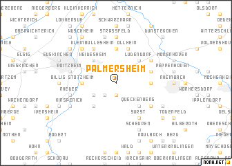 map of Palmersheim