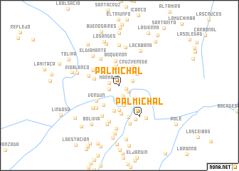 map of Palmichal
