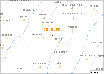 map of Palmyra