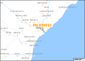 map of Palomares