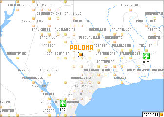 map of Paloma