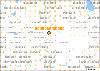 map of Pambadenigama