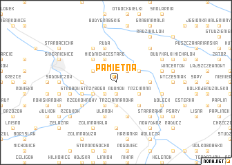 map of Pamiętna