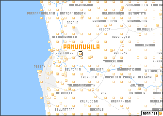 map of Pamunuwila