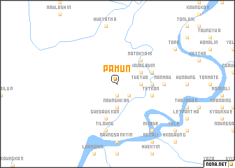 map of Pamun