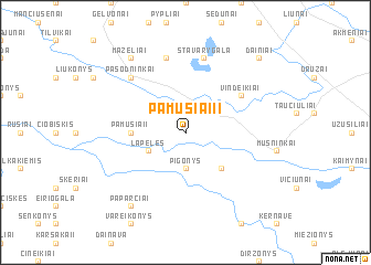 map of Pamusiai II