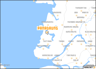 map of Panadaung