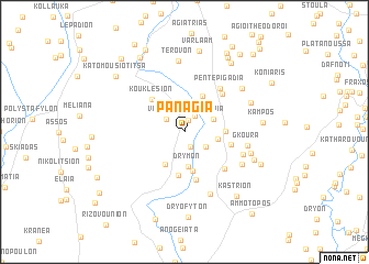 map of Panagía