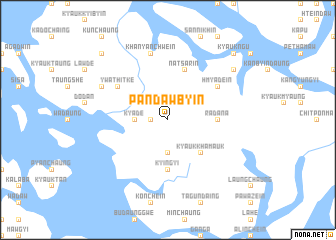 map of Pandawbyin