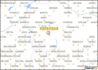 map of Panenská