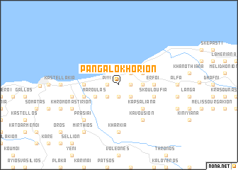 map of Pangalokhórion