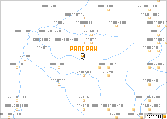 map of Pāngpaw