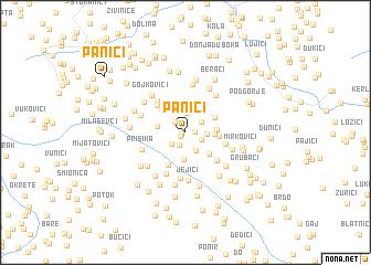map of Panići