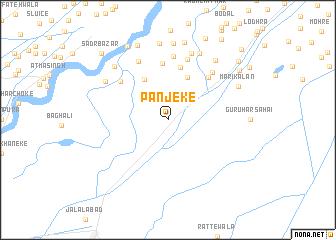 map of Panjeke