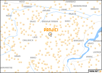 map of Panjići