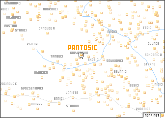 map of Pantošić