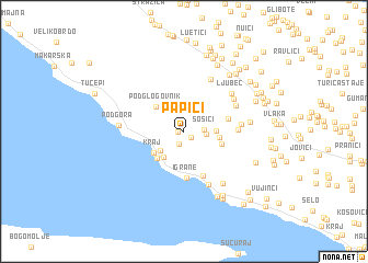 map of Papići