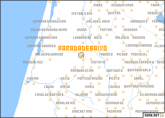 map of Parada de Baixo