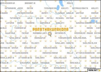 map of Pāra Thākurākona