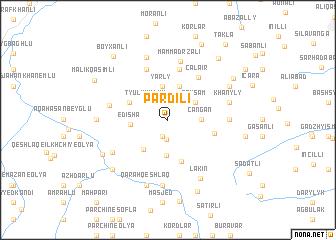 map of Pǝrdili