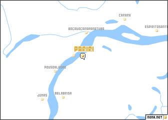 map of Pariri