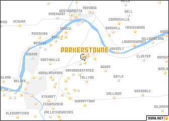 map of Parkers Towne